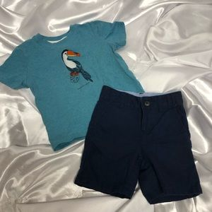 Janie and Jack shirt and shorts set